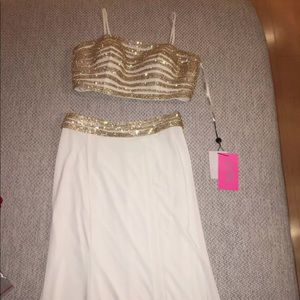 Jovani NWT gold prom dress